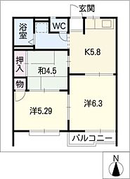 ザセンチュリー21A棟[1階]の間取り