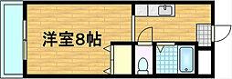 パレ南笠佐わらび[1階]の間取り