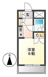 メゾン・ド・セレブラル[7階]の間取り