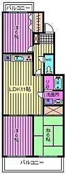 埼玉県さいたま市大宮区高鼻町2丁目の賃貸マンションの間取り