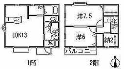 [テラスハウス] 愛知県豊川市平尾町上藤井 の賃貸【/】の間取り