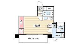 ALTA京都堀川ウインドア[13階]の間取り