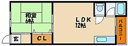 兵庫県明石市和坂稲荷町の賃貸マンションの間取り
