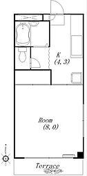 コーポ川島第5[1階]の間取り