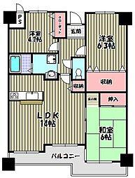 オリエント狭山アーバンコンフォート[6階]の間取り