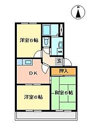 プリベールT[2階]の間取り