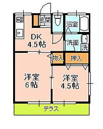 吉田荘[103号室]の間取り