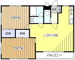 シュガーハウス[2階]の間取り