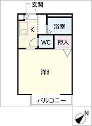 CASA[2階]の間取り