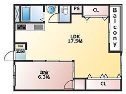 湊川公園ビル[12階]の間取り