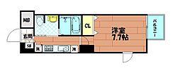 レジュールアッシュ南堀江[7階]の間取り