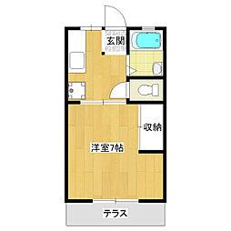 コーポ高松[1階]の間取り