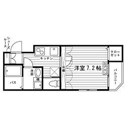神奈川県相模原市中央区淵野辺1丁目の賃貸マンションの間取り