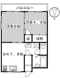昭和コーポ前橋B棟[302号室号室]の間取り