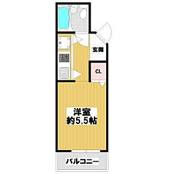 コルナス八戸ノ里[2階]の間取り