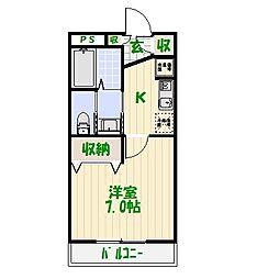 ツインアドレスライト館[3階]の間取り