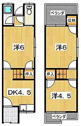 [一戸建] 大阪府枚方市出口1丁目 の賃貸【/】の間取り