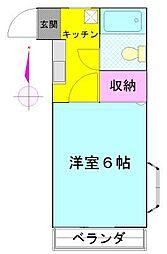 プレステージ原田II[205号室]の間取り