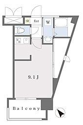 ALFACIO DIFOND 4階ワンルームの間取り