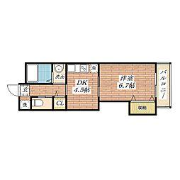 マンションクォーレ[5階]の間取り
