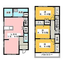 [一戸建] 三重県桑名市大字東方 の賃貸【三重県 / 桑名市】の間取り