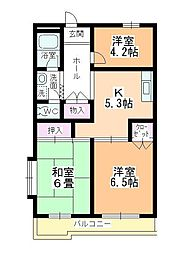 レジデンス的場[3階]の間取り