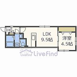 札幌市営南北線 平岸駅 徒歩4分の賃貸マンション 3階1LDKの間取り