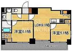 ALTA京都堀川WINDOOR[602号室号室]の間取り
