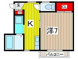 メゾン・ド・K[2階]の間取り