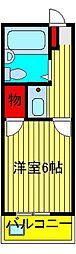 シンセイ[2-206号室]の間取り