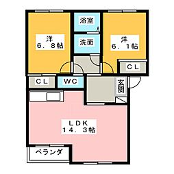 Casa Angelo8034[2階]の間取り