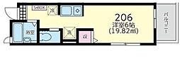 神奈川県川崎市麻生区高石3丁目の賃貸アパートの間取り
