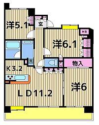 アデニウム五反野[6階]の間取り