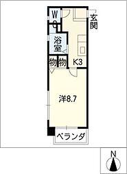 ティアイ四ッ谷[5階]の間取り
