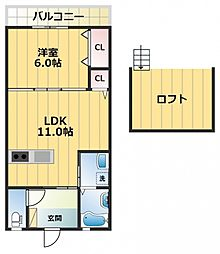 サワハイム[1階]の間取り
