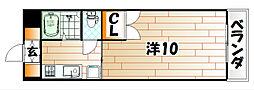 福岡県北九州市八幡東区春の町4丁目の賃貸マンションの間取り