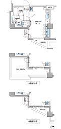 ザ・パークハビオ新宿[4階]の間取り