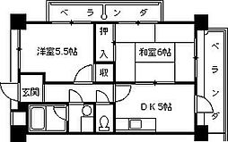 サンコーポユウIII[506号室]の間取り
