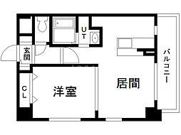 アレンダール円山 8階1LDKの間取り