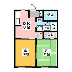 エントピア藤[2階]の間取り
