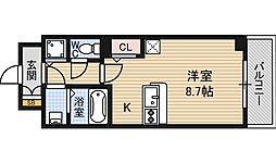 アドバンス西梅田2 5階1Kの間取り