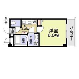 西武新宿線 井荻駅 徒歩3分の賃貸マンション 2階1Kの間取り