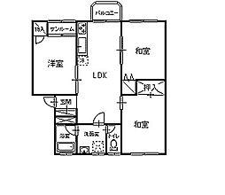 ローズハウスA[201号室]の間取り