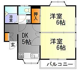 サンヨーII[3階]の間取り
