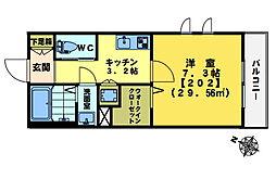 テラス戸塚町[2階]の間取り