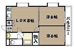 宮城県仙台市太白区富沢2丁目の賃貸マンションの間取り