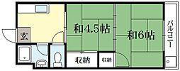 松扇莊2[2階]の間取り