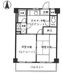 セシル富松[302号室]の間取り