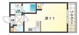 パーラム守口[1階]の間取り
