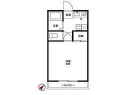 アムールHashimotoI[1階]の間取り